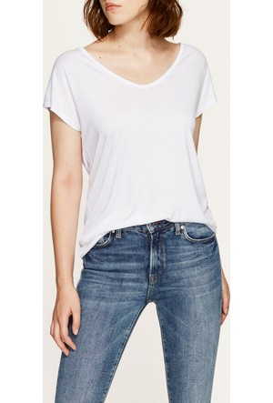 Mavi Beyaz Basic Kısa Kol T-Shirt