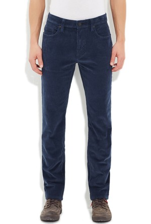 Mavi Gece Mavi Marcus Kadife Pantolon