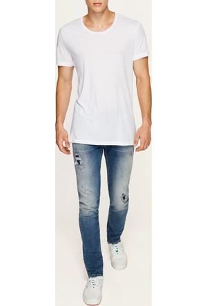 Mavi Erkek Beyaz T-Shirt