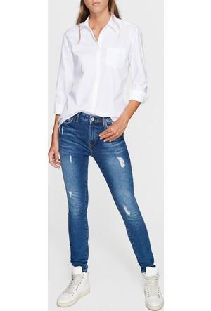 Mavi Kadın Beyaz Oxford Gömlek