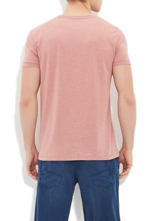 Mavi Pudra V Yaka T-Shirt