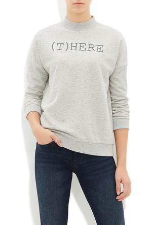 Mavi Kadın Gri Baskılı Sweatshirt