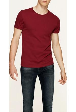 Mavi Koyu Bordo T-Shirt