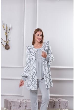Tuba Bayan Hamile Lohusa Üçlü Pijama Takım 7583