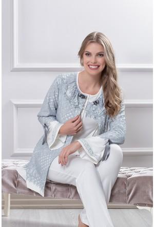 Tuba Bayan Hamile Lohusa Üçlü Pijama Takım 7550