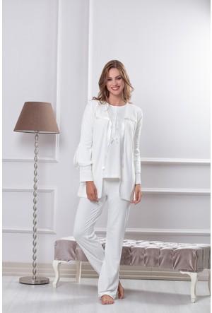 Tuba Bayan Hamile Lohusa Üçlü Pijama Takım 7551