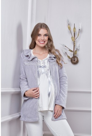 Tuba Bayan Hamile Lohusa Üçlü Pijama Takım 7570