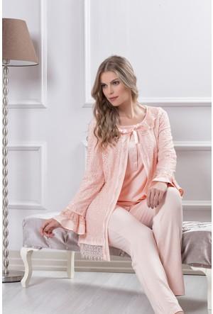 Tuba Bayan Hamile Lohusa Üçlü Pijama Takım 7590