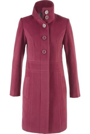 Bpc Bonprix Collection Kadın Lila Dik Yaka Rahat Palto