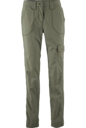 Bpc Bonprix Collection Kadın Yeşil Karo Streç Pantolon