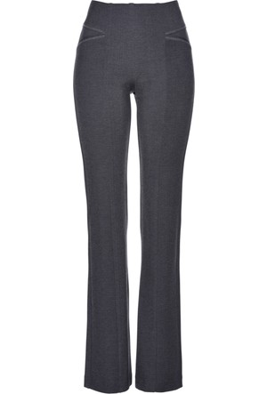 Bpc Selection Kadın Premium Gri Bootcut Jarse Pantolon