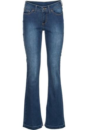 Rainbow Kadın Mavi İspanyol Paça Bootcut Jean Pantolon