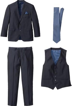 Bpc Selection Erkek Mavi 4 Parçalı Takım Elbise