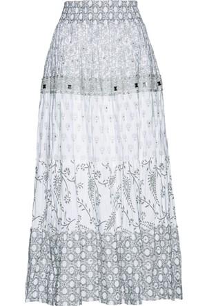 Bpc Selection Kadın Gümüş Rengi Katlı Etek