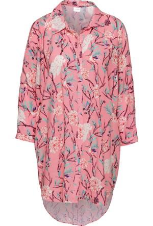 Bodyflirt Kadın Pembe Cut Out Detaylı Oversize Gömlek
