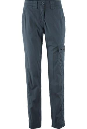 Bpc Bonprix Collection Kadın Mavi Karo Streç Pantolon