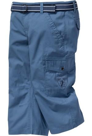 Bpc Bonprix Collection Erkek Mavi Kemerli Şort Modeli