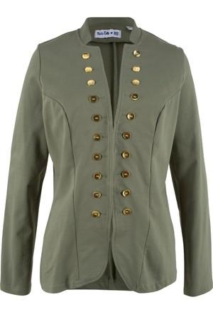 Bpc Bonprix Collection Kadın Yeşil Sweat Blazer Ceket (Maite Kelly Tasarımı)