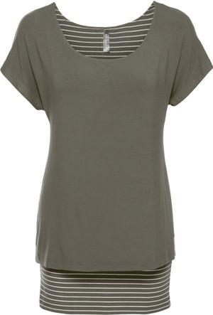 Rainbow Kadın Yeşil 2'li Görünümlü T-Shirt