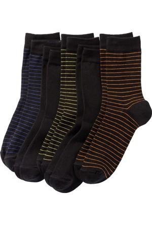 Bpc Bonprix Collection Erkek Siyah Çizgili Görünümde Çorap (5'Li Pakette)