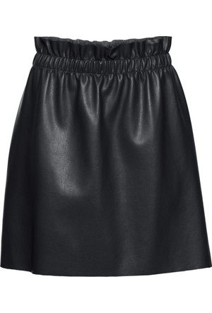 Bodyflirt Kadın Siyah Suni Deri Mini Etek