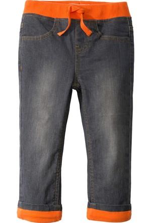 John Baner Jeanswear Erkek Çocuk Gri Jarse Astarlı Termal Jean Pantolon