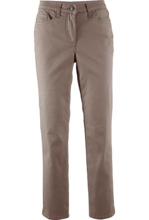 Bpc Bonprix Collection Kadın Kahverengi Bilek Boy Süper Streç Pantolon