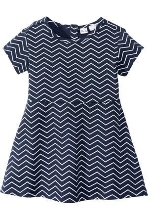 Bpc Bonprix Collection Kız Çocuk Mavi Desenli Elbise