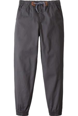 John Baner Jeanswear Erkek Çocuk Gri Esnek Bel Lastikli Chino Pantolon