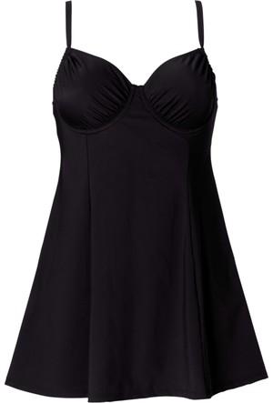 Bpc Bonprix Collection Kadın Siyah Vücut Şekillendirici Elbise Mayo