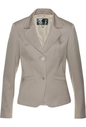 Bpc Selection Kadın Gri Peplum Detaylı Blazer Ceket