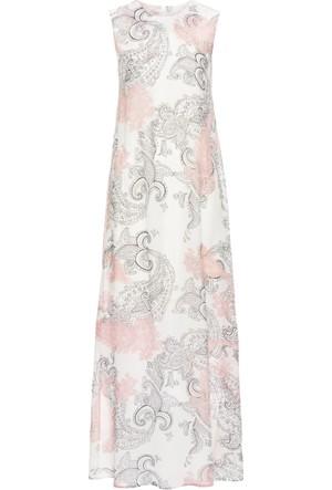 Bodyflirt Kadın Beyaz Uzun Şifon Elbise
