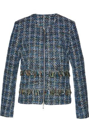 Bodyflirt Kadın Mavi Bukle Blazer Ceket