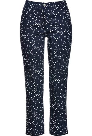 Bpc Selection Kadın Mavi Bilek Boy Yıldız Baskılı Streç Pantolon