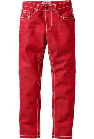 John Baner Jeanswear Erkek Çocuk Kırmızı Nakışlı Model Pantolon