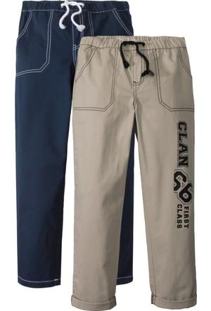 John Baner Jeanswear Erkek Çocuk Mavi Rahat Kesim Chino (2'li)