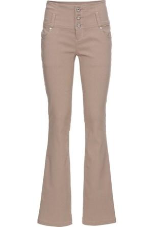 Bodyflirt Kadın Kahverengi Yüksek Bel Bengalin Streç Pantolon