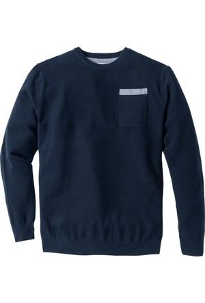 John Baner Jeanswear Erkek Mavi Kazak