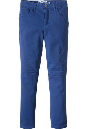 John Baner Jeanswear Erkek Çocuk Mavi Biker Stilinde Pantolon