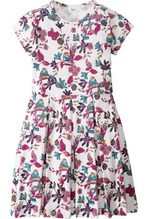 Bpc Bonprix Collection Kız Çocuk Beyaz Baskılı Kolsuz Elbise