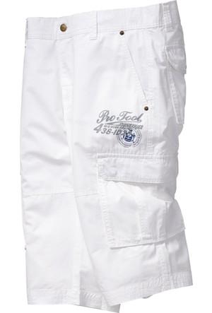 Bpc Bonprix Collection Erkek Beyaz Baskılı Uzun Bermuda Şort