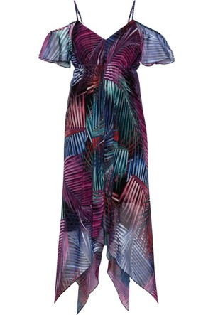 Bodyflirt Kadın Bej Asimetrik Elbise