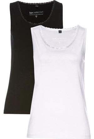 Bpc Selection Kadın Beyaz Kalın Askılı Atlet (İkili Pakette)