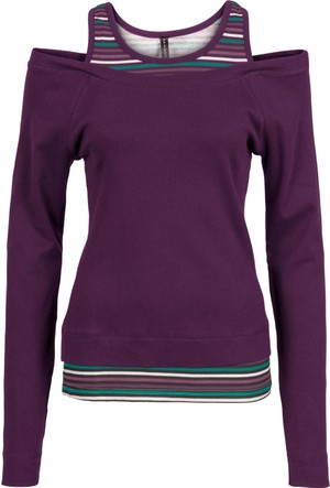 Rainbow Kadın Lila İki Parça Görünümlü Uzun Kollu Sweatshirt