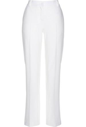 Bpc Selection Kadın Premium Beyaz Kumaş Pantolon
