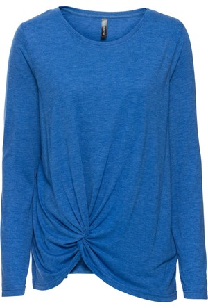 Rainbow Kadın Mavi Düğüm Detaylı Uzun Kollu Bluz
