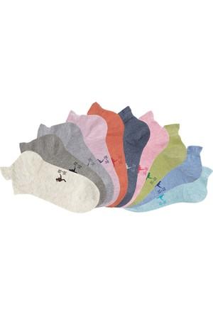 Kangaroos Kadın Mavi Spor Çorabı (10Lu Pakette)