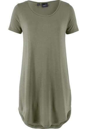 Bpc Bonprix Collection Kadın Yeşil Uzun T-Shirt