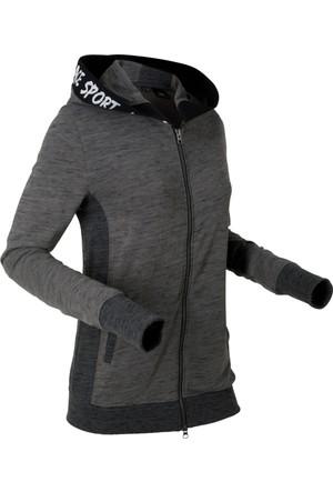 Bpc Bonprix Collection Kadın Gri Esnek Detaylı Sweat Ceket