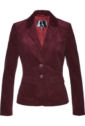 Bpc Selection Kadın Kırmızı Kadife Blazer Ceket